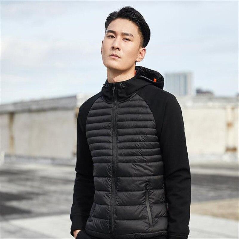 Xiaomi Uleemark hombres abajo chaqueta Casual moda invierno chaqueta abrigo para hombres con capucha algodón acolchado ropa abrigo hombre Outwear otoño - 2