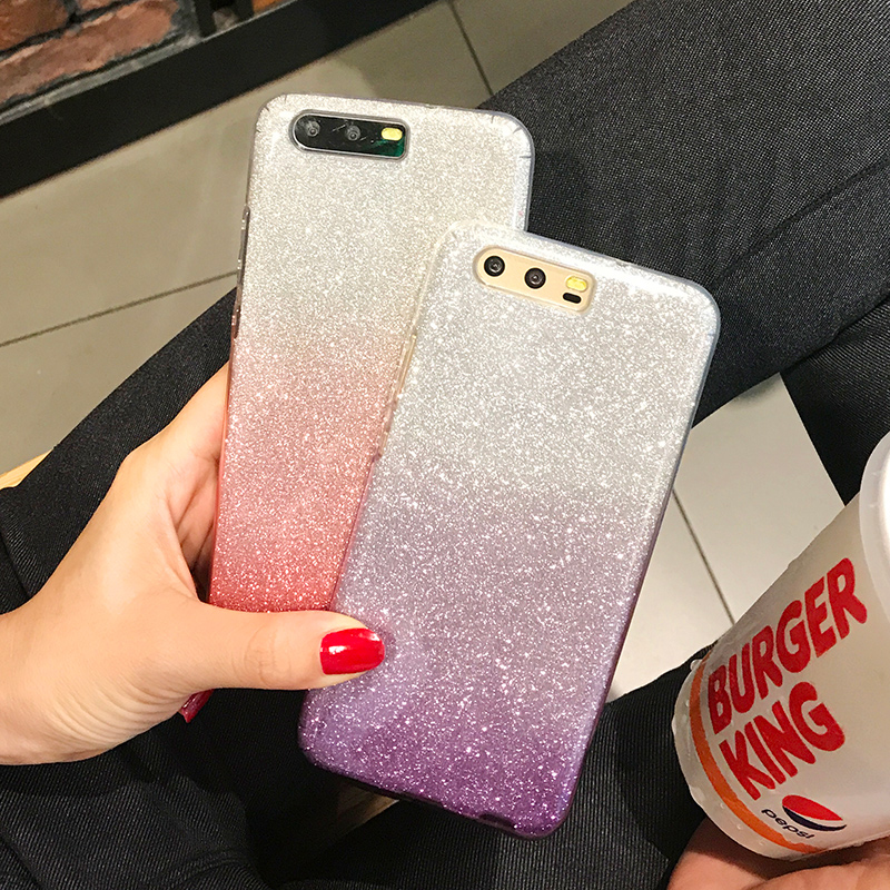 Top Quality Bling Soft Case For HUAWEI Y6 2018 Y5 2017 P8 P9 P10 <font><b>Lite</b></font> <font><b>Honor</b></font> 7C 7A Pro 5A 8 <font><b>9</b></font> 6C DUA-L22 <font><b>Cover</b></font> Phone Protector image