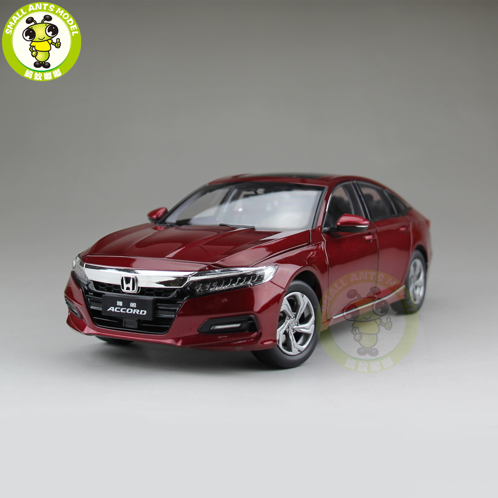 1/18 Honda Accord 10th Sedan Diecast Metal Car Model Toys Boy Girl Birthday Gift Collection Hobby Red 1 18 honda vezel suv diecast metal suv car model toys girl boy gift collection hobby black