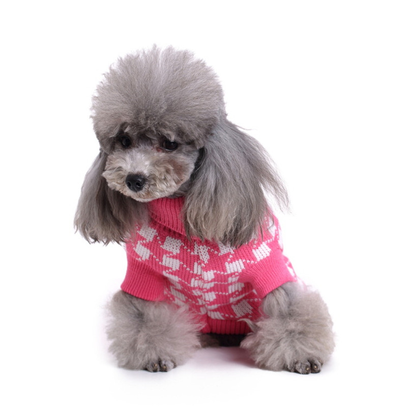 New Autumn winter Wool Pet Dog Sweaters Christmas Snowflake Stripe Pattern Knitting Sweater for Medium and Big Dog Pet Clothes in Dog Sweaters from Home Garden
