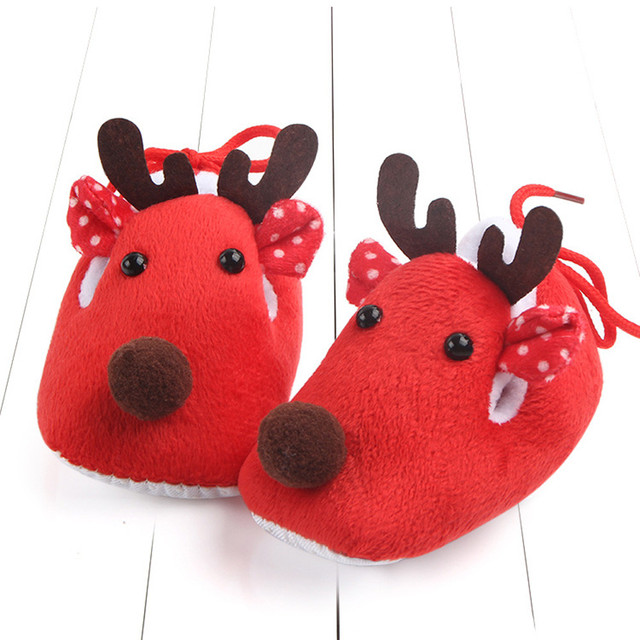 Solid Cotton Deer Print Shoes 2