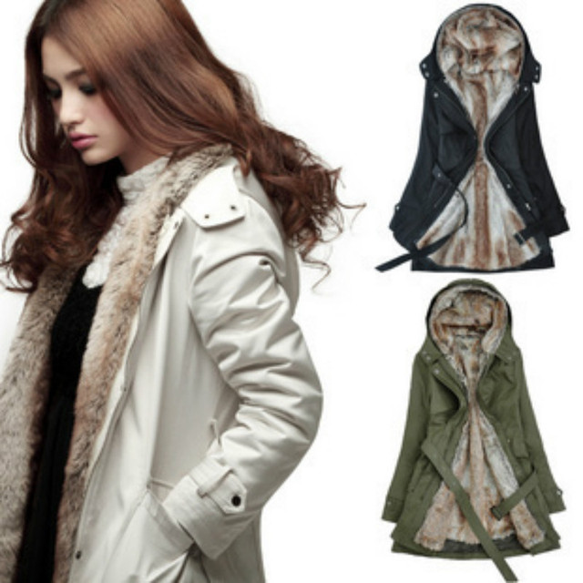 Warm Winter Coat Jacket Outerwear Faux Fur Lining Women's Fur Jackets Parka Overcoat Roupas Woman Clothes Chaquetas Mujer Casaco