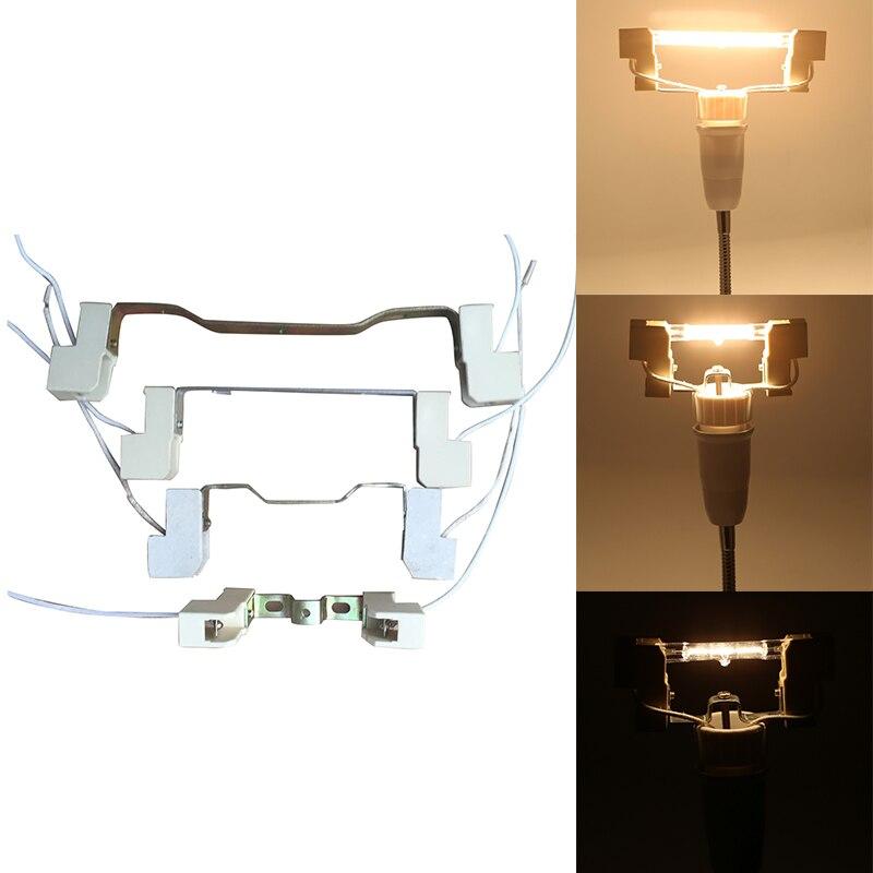4A 78/118/135/189 Mm R7S Lamp Base Socket Lamp Holder Conveter Connector Metal Handle For Flood Light Bulb