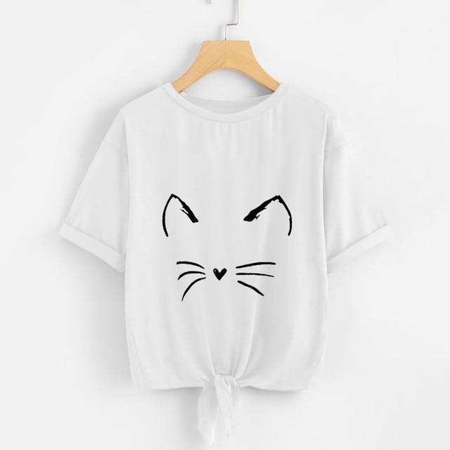 Women T Shirts Casual Soild...