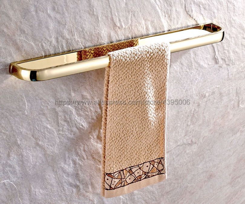 Luxury Gold Color Brass Wall Mounted Single Towel Bars Towel Holder restroom Towel Rack Bathroom Accessories Bba843 стоимость