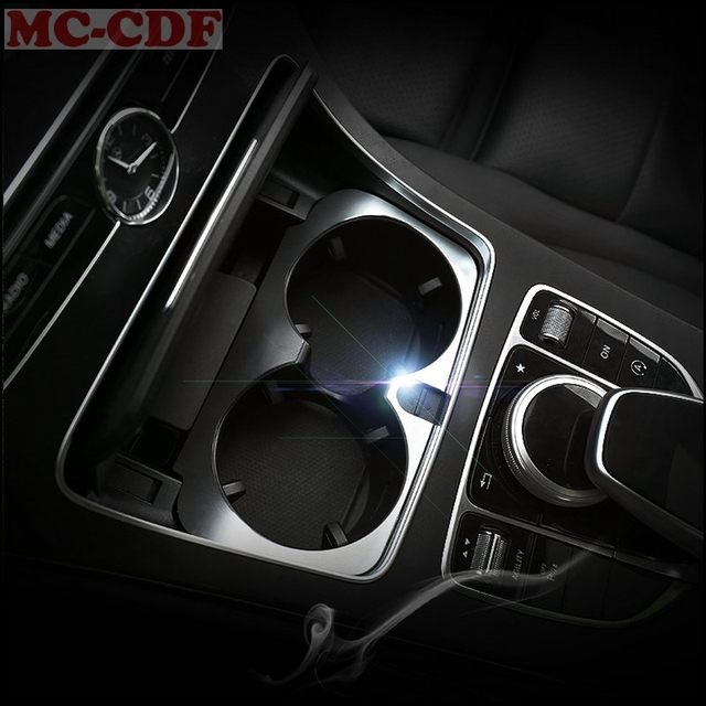 1pc Interior ABS Center Console Water Cup Holder Cover Trim For Mercedes  Benz E class W213 2016 2017 E200 E300 E400 6cad46d5eac6