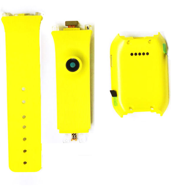 Back Cover Housing Door Case Rear Watch Band Battery Cover Silicone Strap for Samsung Galaxy Gear V700 SM-V700 Yellow Orange