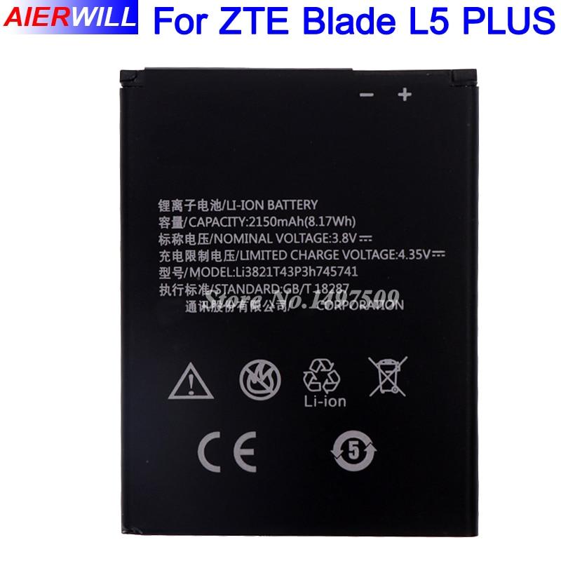 Li3821T43P3h745741 Batterie für ZTE Blade L5 PLUS C370 2150 mAh Hohe Qualität