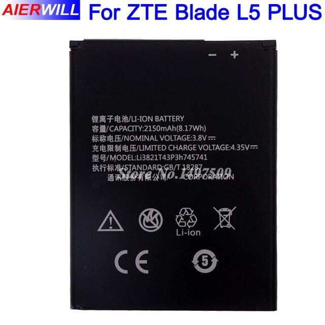 Li3821T43P3h745741 Battery for ZTE Blade L5 PLUS C370 2150mAh High Quality