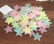 3.8cm luminous stars in patch SMD fluorescent stereoscopic wall stickers 100 / bag paste Wall Stickers 3194