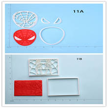 Super Hero Spider Man Sugarpaste cookie Cutters for Cake Custom Made 3D Printed Cookie Cutter Set Cupcake Baking Moulds