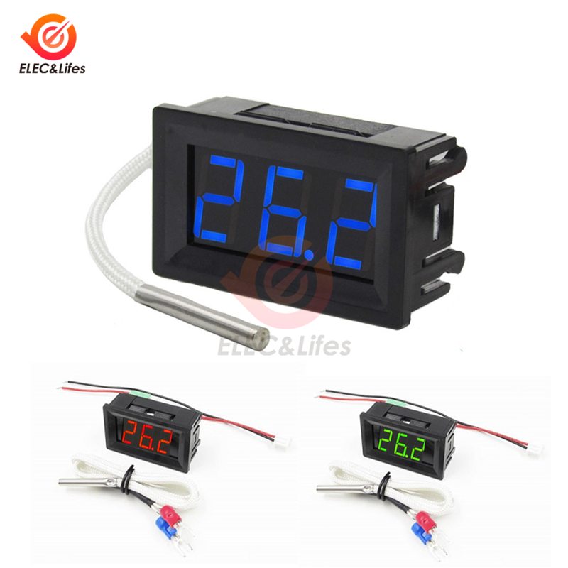 XH-B310 Industrial Digital Thermometer K-type High Temperature Sensor Thermocouple thermometer DC 12V Measuring -30~800 Celsius