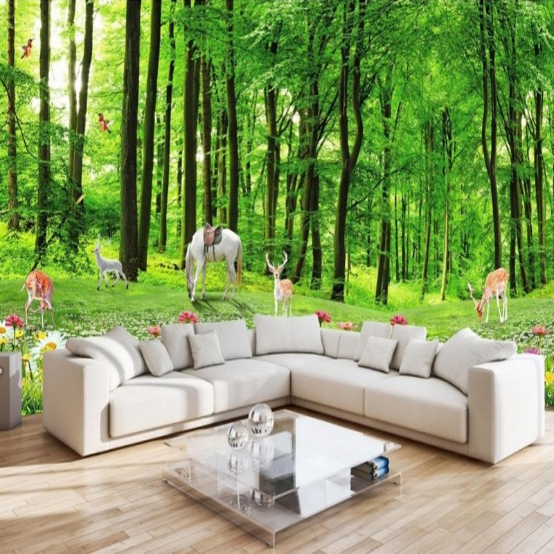 Custom Photo Wallpaper Animal Forest Sunshine Nature Landscape Living Room Bedroom TV Backdrop Wall Murals custom photo wallpaper tiger animal wallpapers 3d large mural bedroom living room sofa tv backdrop 3d wall murals wallpaper roll