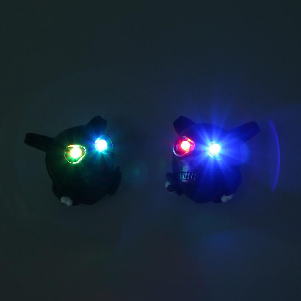 2 Stücke Von 2 Schwarz Schädel Bike Fahrrad Sicherheit Hinten Rad Led-blitz Licht Lampe W1y4 S4p6 Warnung Licht