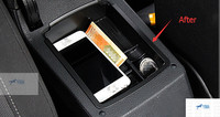 Black Central Storage Pallet Armrest Container Box For Volkswagen VW Golf 7 2013 2015 Hatchback