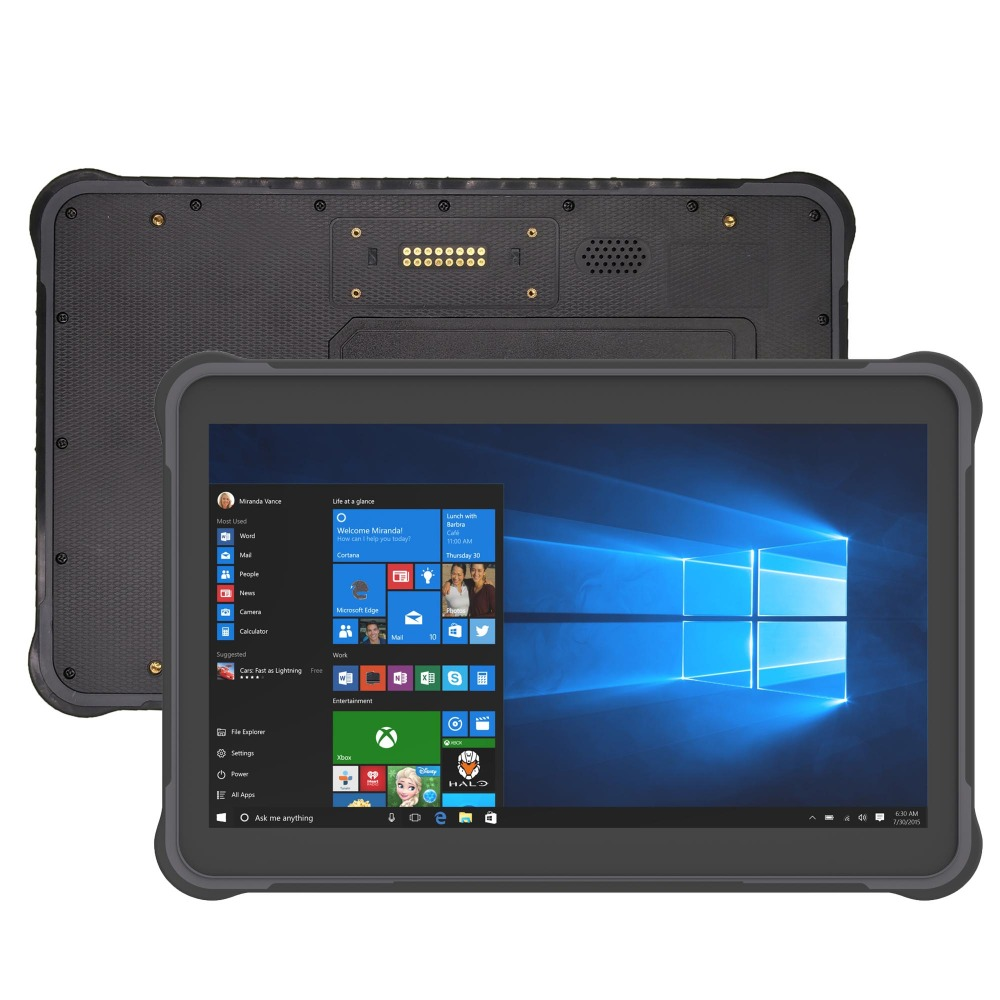 Rugged Tablet 10.1 Inch Windows 10 Industrial Tablet Pc With 2D Barcode Scanner  ST11-W