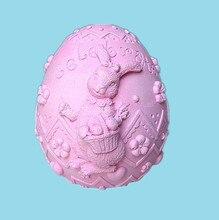 3D font b Easter b font font b Egg b font Soap mold Silicone Mold Soap