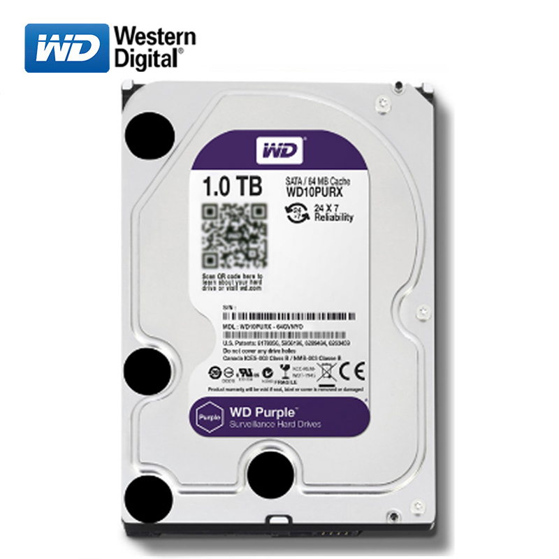 WD Purpl brand 1000GB internal hard disk <font><b>3.5</b></font>