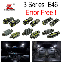 16pc X Error Free LED Interior Light Kit Package For Bmw E46 Sedan Coupe M3 323