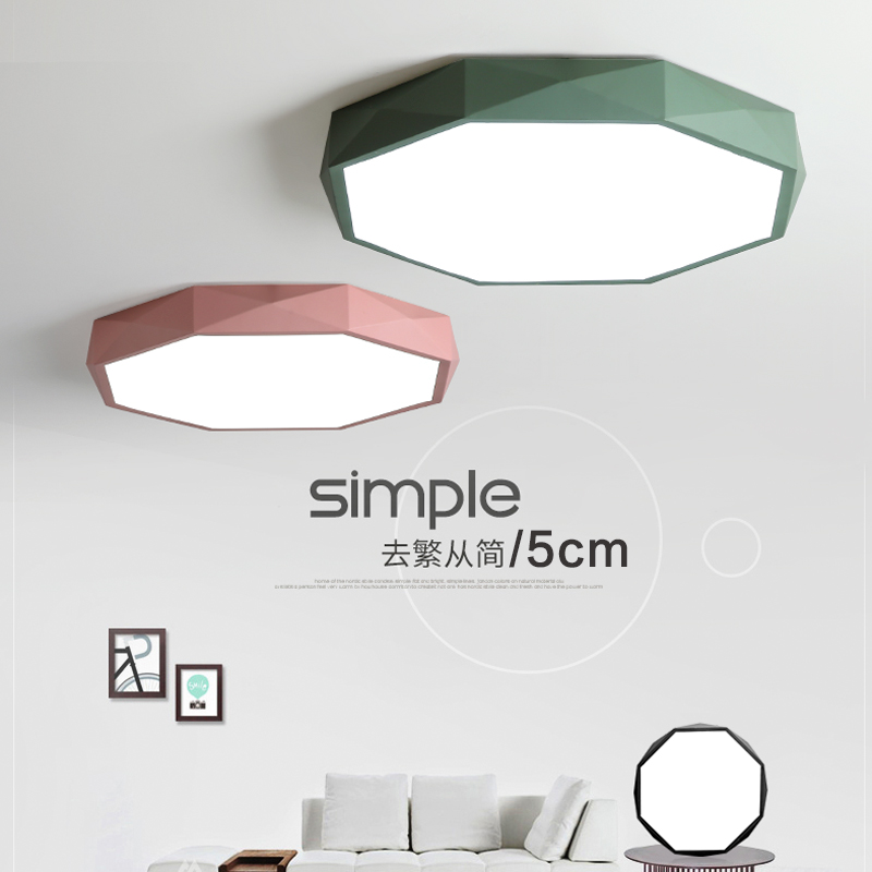 GPL simple style surface mounted LED ceiling light ,diamound edge ceiling light for living, study room,balcony 12W,18W,24W,40W
