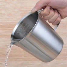 High Quality 1.2mm Thicker 500/1000ml Coffee Milk Juice Jug Mug Cup With Scale Baking Measuring cups Espresso Coffee Jug
