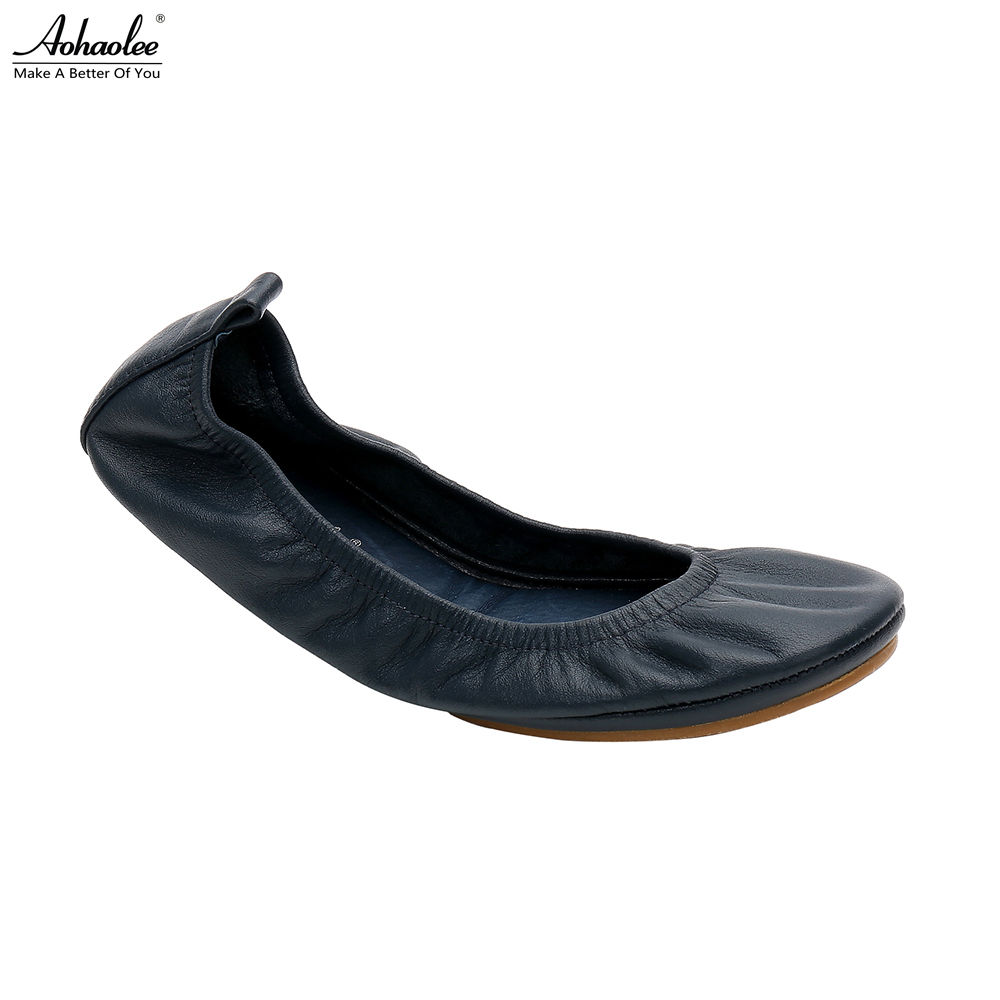 Aohaolee 2 Pairs / Lot Fashion Brand Ballerina Shoes Women Leather Ballet Flats Foldable Portable Flats Shoes For Bridal Wedding колготки ballerina 050 1 2