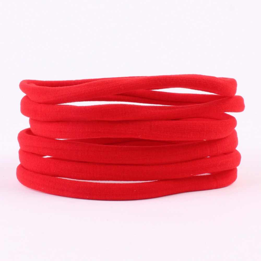 Girl Elastic Solid Candy Color Hair Band Seamless Skinny Headband Scrunchie