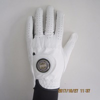 For Men Cabretta Leather Material On Plam And Back All Weather Magnet Ball Marker Golf Glove