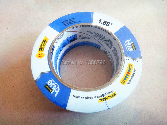 48mm x 54.8 m Fita Azul para 3D Printer Tape Calor 3 M 2090 Crepe de Papel Resistente de Alta Temperatura Fita adesiva