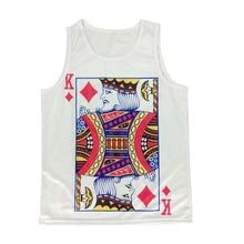 HOT!! 2015 New Men's Poker K 3D Print Sleeveless Tank Tops Fashion Summer 3D T Shirt Casual Plus Size Vest Jersey Men