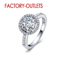925 Sterling Silver Ring Fashion Jewelry Round Cubic Zirconia Prong Setting Women Girls Party Engagement Wholesale helon elegant classic round 6mm engagement wedding semi mount setting ring sterling silver 925 three stone ladies jewelry ring