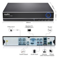 New SANNCE 4CH 4IN1 1080N CCTV DVR Security System Full D1 H 264 HDMI P2p Cloud