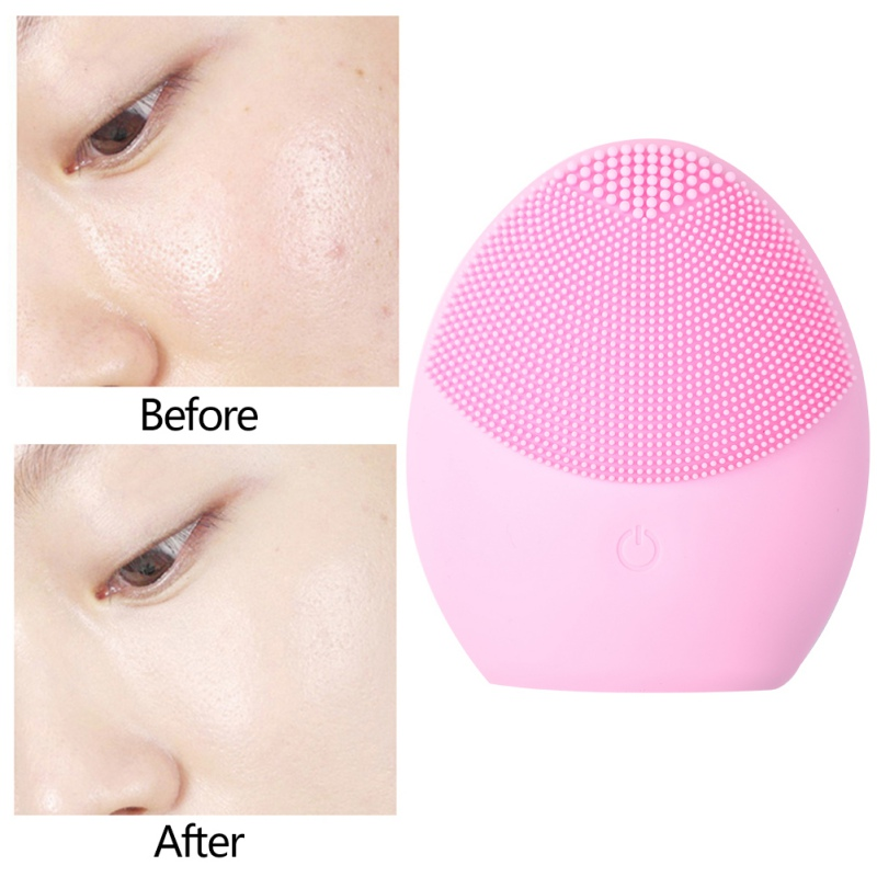 High Quality Facial Cleansing Brush Sonic Vibration Face Cleaner Silicone Deep Pore Cleaning Electric Waterproof Massage Soft 2