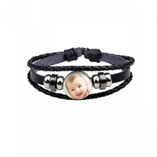Handmade Personality Photo Family Baby Child Dad Mom Brother Sister Grandpas Portrait Bracelet Private