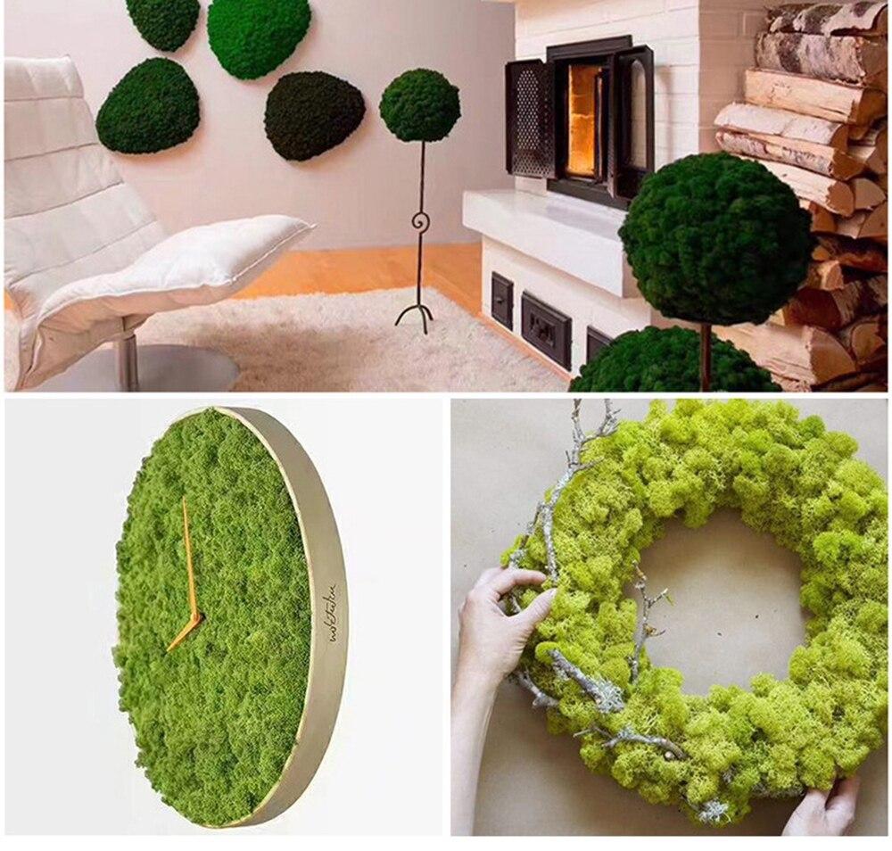 500g 1 pc faux artificiel séché mousse pour fleurs herbe plante mousse vert mousse plantes décorations sol vert mur décoration mousse