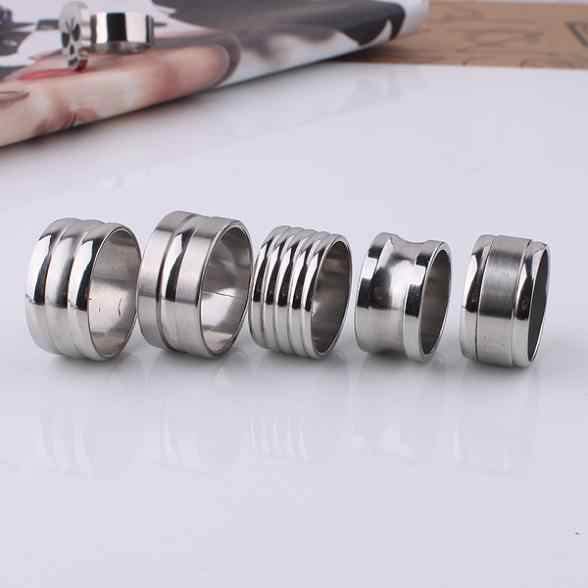 free shipping Men mix design streak 316L Stainless Steel finger ring jewelry big size  wholesale