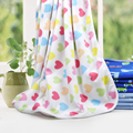 Printed Polar fleece blankets fleece single layer knitting baby thick blanket stroller covet soft swaddle blankets velvet