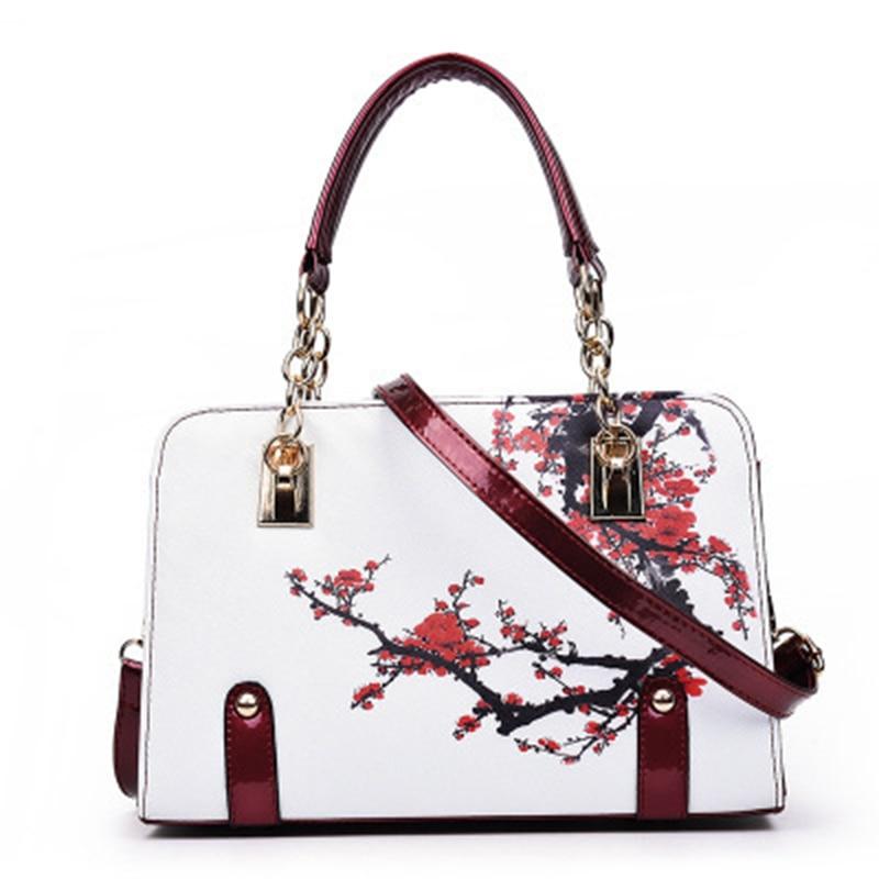 Printing New Fashion Women Handbag PU Leather Tote Bag Female Messenger Bag Hig