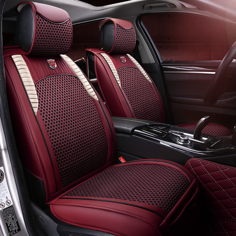 OUMANU car seat cover ice silk car seat covers car styling protector for audi A1 A3 A4 B8 B7 B6 B5 A6 C6 C7 A8 A8L Q3 Q5 Q7