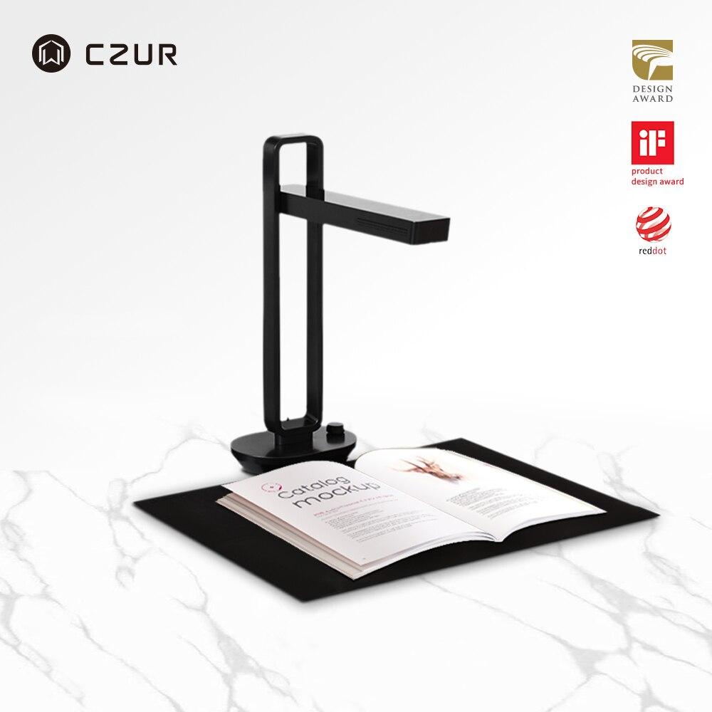 Czur aura pro portátil dobrável livro scanner de documentos max a3 com câmera hd inteligente ocr conduziu a lâmpada mesa para a família escritório em casa