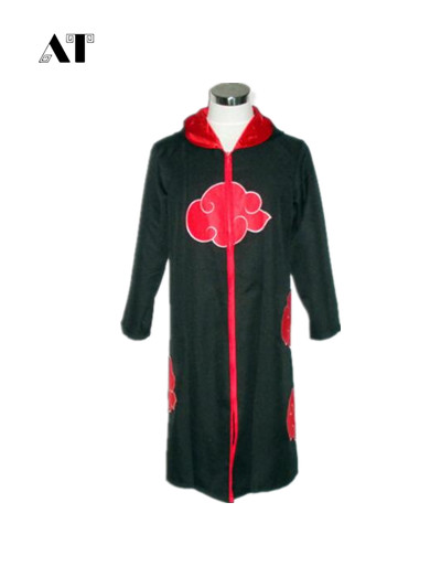Halloween Coustume  Naruto Cosplay Costume Naruto Akatsuki  Cosplay Cloak Hooded