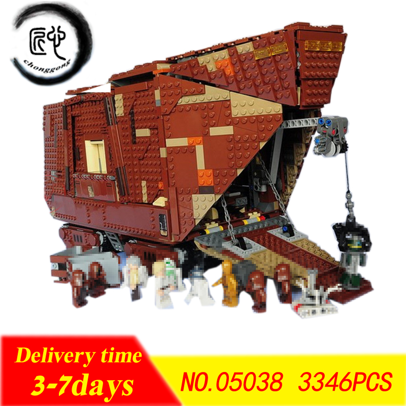 New Star wars Series The Force Awakens Sandcrawler fit legoings Star Wars figures Set Building Blocks Bricks 75059 Toys For Kids 482pcs star space the ja quadjumper set model building blocks bricks toys kids gifts compatible legoings star series wars 75178