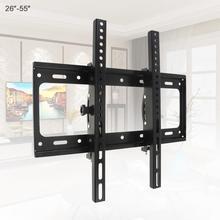 50 كجم قابل للتعديل 26   52 بوصة رف لتثبيت التليفزيون على الحائط إطار شاشة تلفزيون مسطحة دعم 15 درجة إمالة ل LCD شاشة LED مسطح