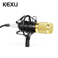KEXU Mic Sound Recording Kit BM 800 Audio Processing Condenser Wired Microphone Wind Screen Pop Filter