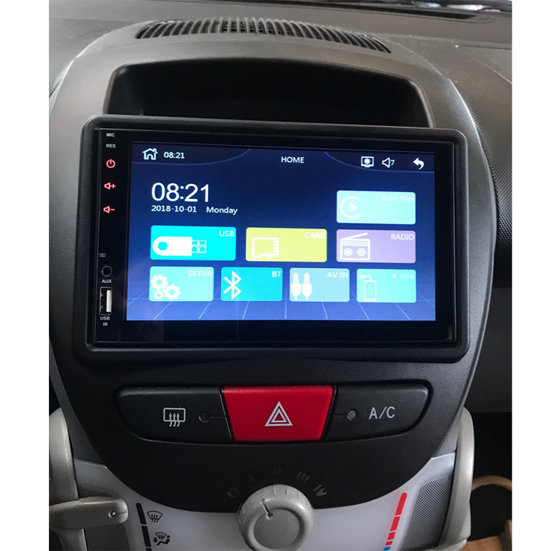 Image 5 - 2DIN High Quality Car Radio Fascia For Toyota Aygo/For Peugeot 107/Citreon C1 can't use for UK, Germany, Poland, Italy-in Fascias from Automobiles & Motorcycles