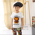 New Summer Baby Milo Clothes Set Kids/Children T shirt+Harem Shorts Cotton Clothing Cute Vetement For Boys/Girls/Enfant 2-6Y