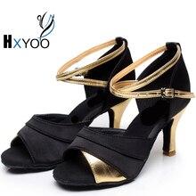 HXYOO 2017 Classic Latin Salsa Dance Shoes Women Tango Ballroom Shoes Soft Sole 3 Colors GM012