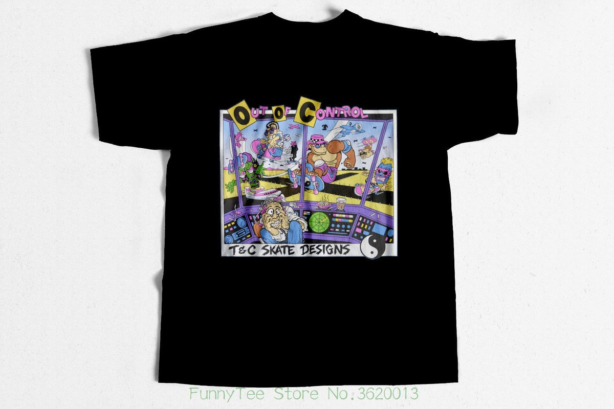 Cali Skate 2 Mens PRINTED T-SHIRT Skater Skateboard Cartoon