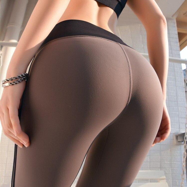 CHRLEISURE High Waist Fitness Leggings Leggings Woman Sexy Workout Slim Quick-drying Pants Feminine Splice Push Up Leggings