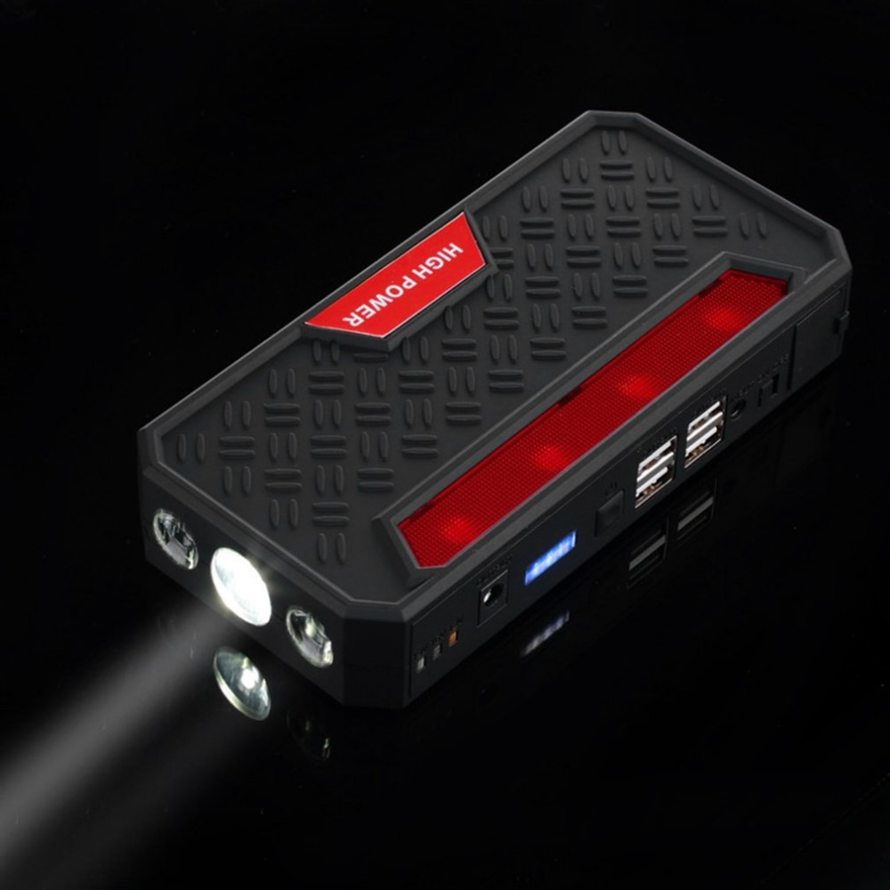 4USB Multi-Function Car Jump Starter 12V Rechargeable Battery 68800mAh Power Bank Starter With Inflator Pump Car Accessories 13500mah 12v multi function mobile power bank tablets notebook phone ca r auto eps starter emergency start power
